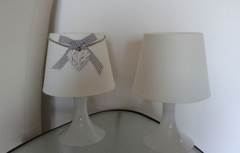 lampan decorata con lo stile shabby chic