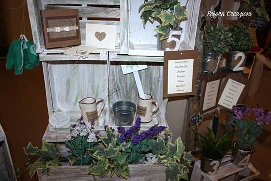 Tableau per matrimonio in stile shabby chic - Matrimonio shabby chic idee ...