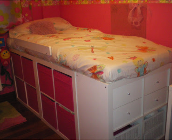 Expedit come base letto